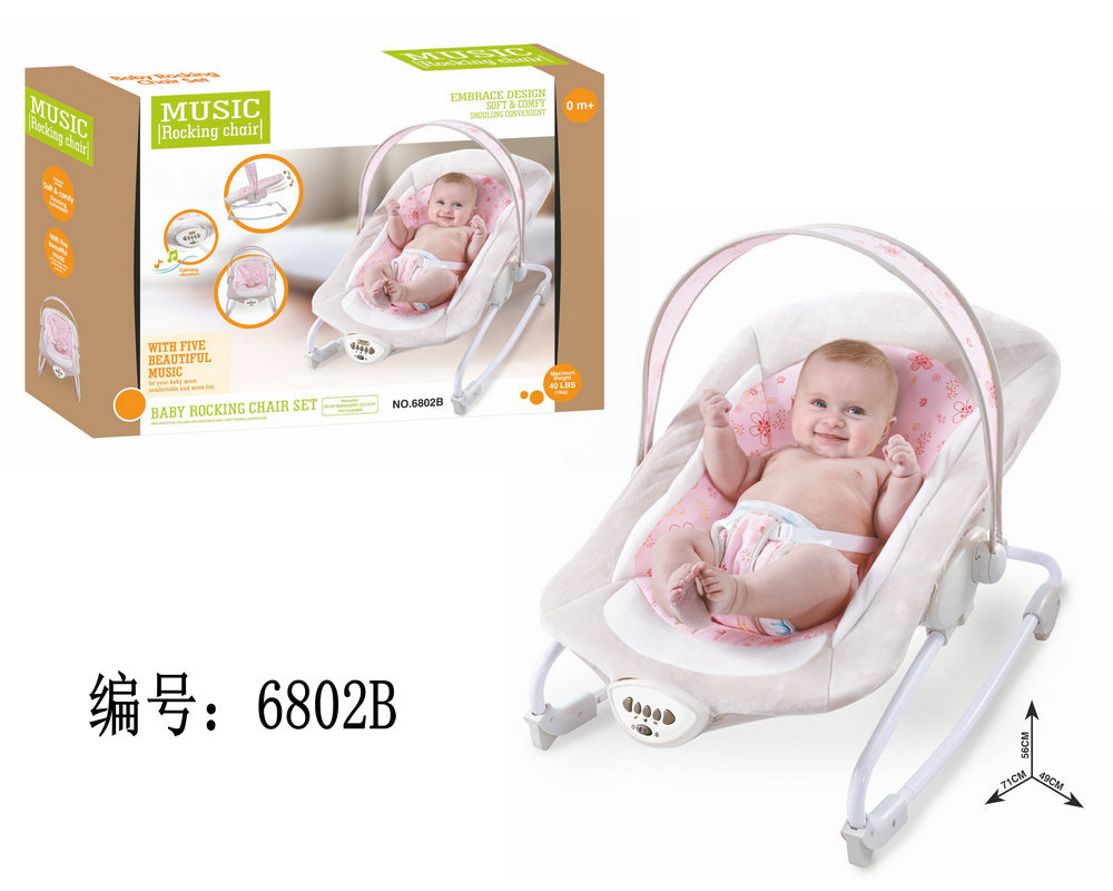 H2dd36a61af3c4b749de50f530c154cb5L Newborn Multifunctional  foldable Electric baby rocking chair with toy music soothing and comfortable shaking baby chair