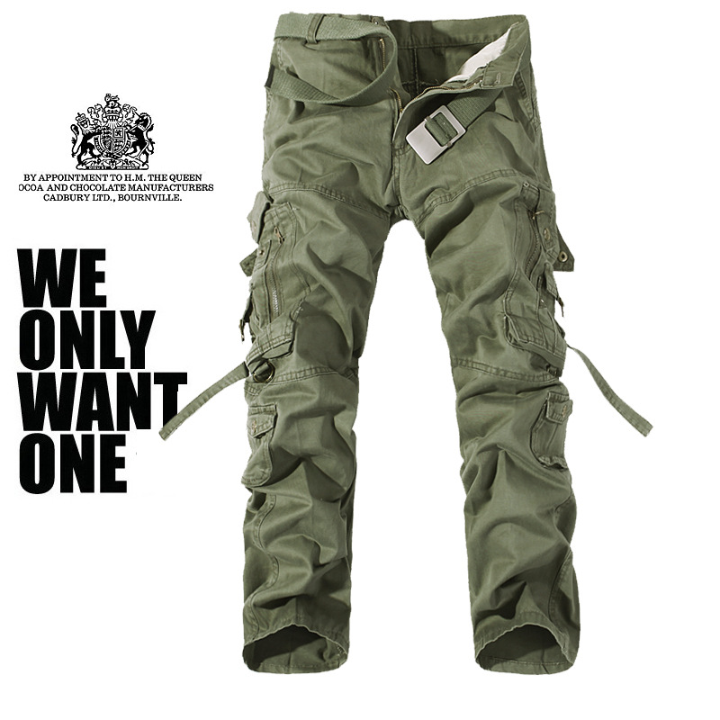 Purchasing Agents Hot Models Loose And Plus-sized Men'S Wear Multi-pockets Washing MEN'S Overalls Have Large Cargo