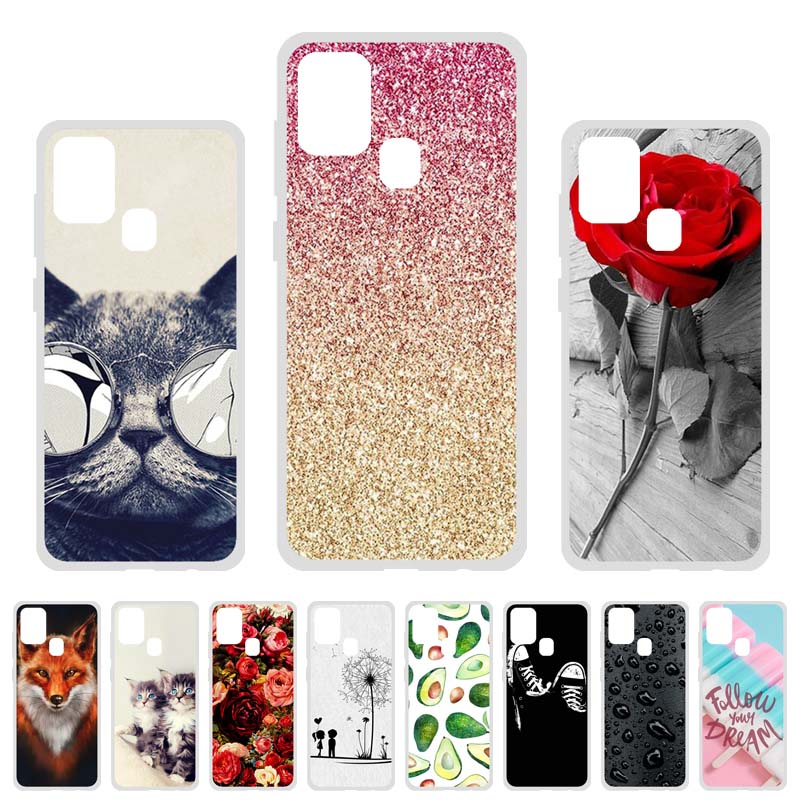 Soft TPU Case For Samsung Galaxy A21s Cases Silicon Cute Cat Animal Phone Coque Samsung A21s SM-A217F SM-A217F/DS 6.5 Covers