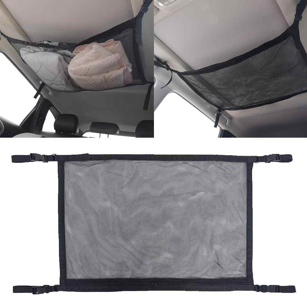Universal teto do carro telhado interior malha bolso carga net zíper saco de armazenamento 2019