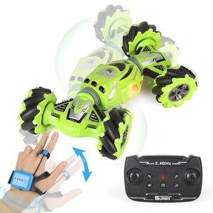 2.4G zegarek czujnik gestów kontrola samochodu Off-samochód Twist side Driving Stunt rc samochód Drift wspinaczka model pojazdu dla dzieci prezent