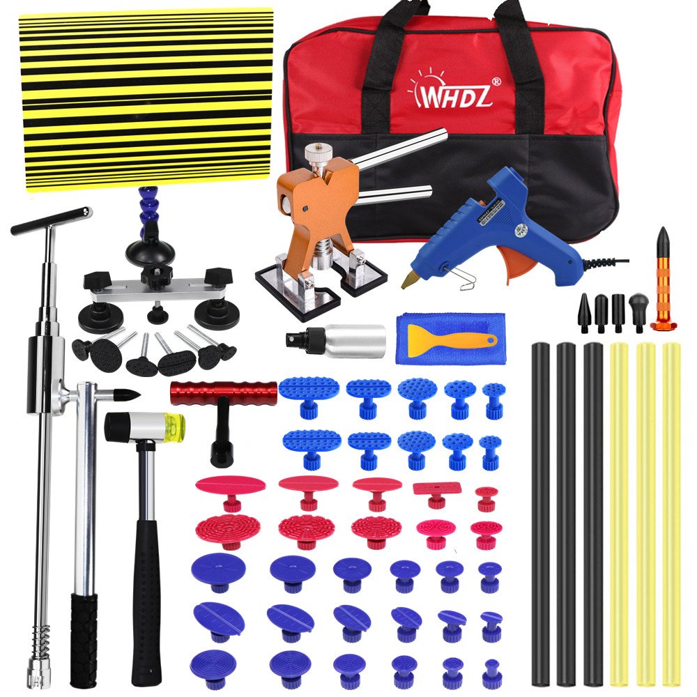 HAND TOOLS PDR KIT CAR DENT REPAIR PAINTLESS DENT REPAIR TOOLS  REFLECTOR BOARD DENT PULLER FOR HAIL DAMAGE PDR GLUE FOR AUTO BO