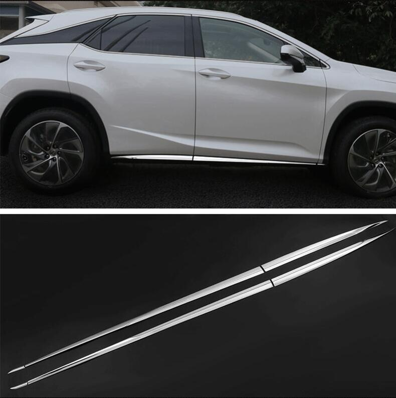 6PCS STAINLESS STEEL Side Door Body Protector Molding Cover Trim For <font><b>LEXUS</b></font> <font><b>RX</b></font> RX200T RX450H 2016 <font><b>2017</b></font> 2018 2019 2020 Year image