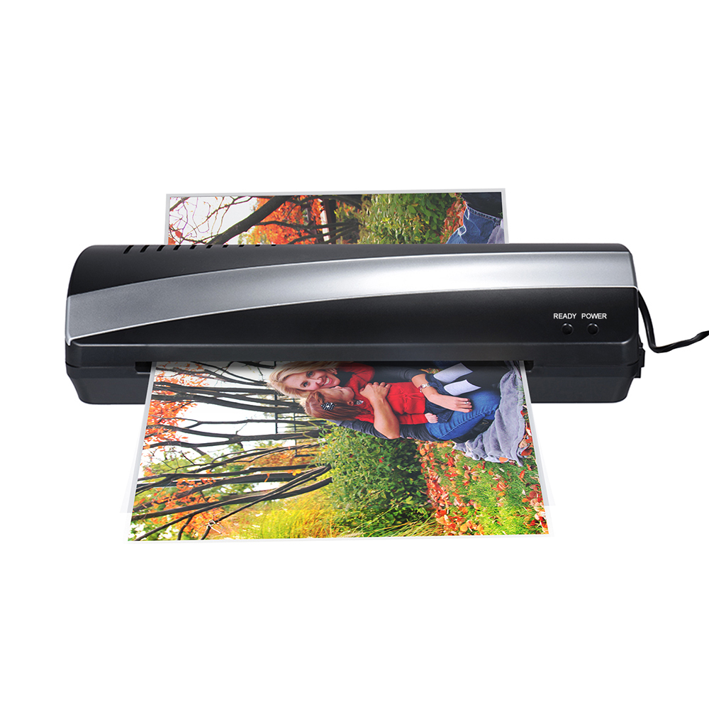 """A4 9"""" Width Photo Paper Hot And Cold Thermal Laminator Machine Two Roller 3-5min Quick Warm-up Fast Laminating Speed Jam-release"""