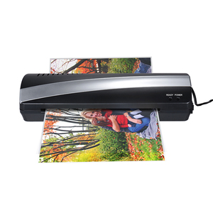 """Image 1 - A4 9"""" Width Photo Paper Hot and Cold Thermal Laminator Machine Two Roller 3 5min Quick Warm up Fast Laminating Speed Jam release"""