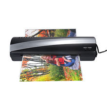 Máquina laminadora térmica en frío y caliente de papel fotográfico A4 de 9 pulgadas de ancho, dos rodillos, calentamiento rápido de 3 5min, liberación rápida de mermelada