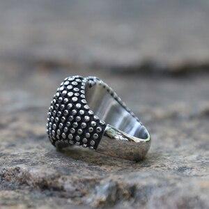 Image 4 - US ขนาด 6 13 สแตนเลสสตีล BIKER รถจักรยานยนต์แหวนผู้ชายผู้หญิงเงินกระแทกแหวนหัวใจสไตล์อินเดียแฟชั่นงานแต่งงานของขวัญปาร์ตี้