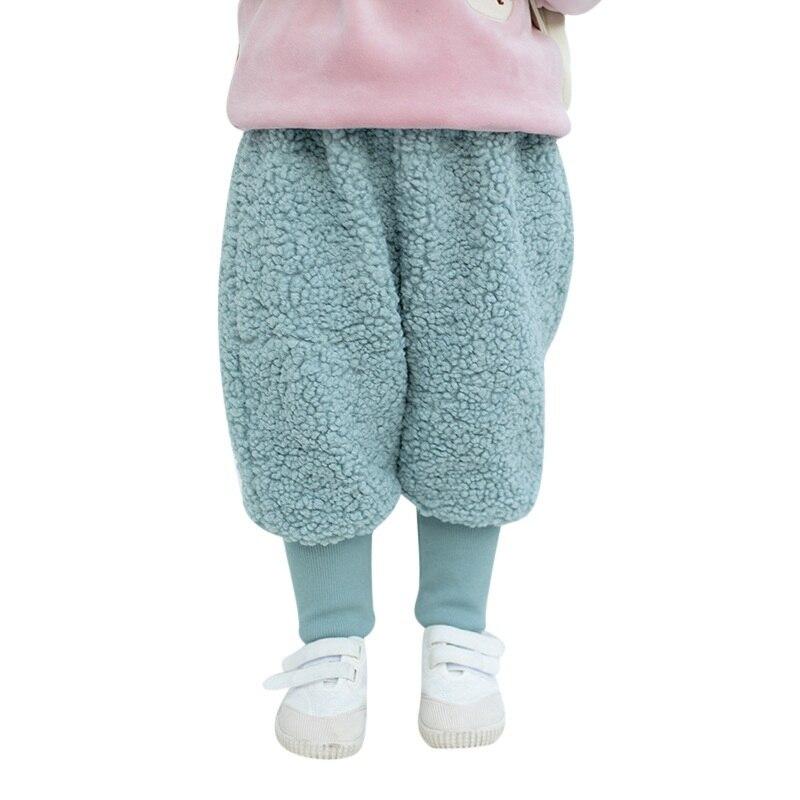 COOTELILI Winter Fleece Baby Girls Pants Trousers Baby Boys Pants warm Leggings Trousers For Girl Kids Girls Velvet Pants  (8)
