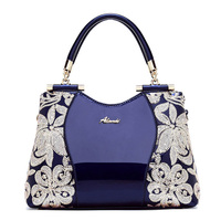 Women Bags For Ladies Handbags Large Capacity Women's Handbags Top handle Hand bags Floral Luxury Patent Leather Bag