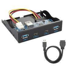 Usb30 type c двойной порт s & usb30 Тип a концентратор Передняя
