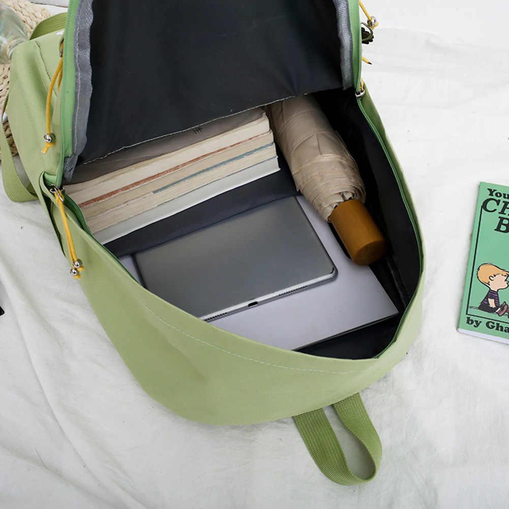 4 Teile/satz Frauen Schule Rucksäcke Schul Daisy Leinwand Für Jugendliche Mädchen Student Buch Tasche Jungen Satchel Bolsas Mochilas Sac