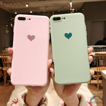 Buy Solid color couple love candy color soft silicone matte phone case for iphone 8 Plus X XS Max XR fashion solid back cover directly from merchant!