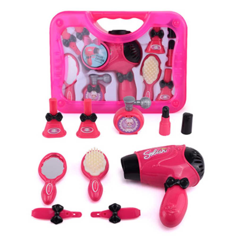 Игрушки для девочек, набор для макияжа, игрушки, имитация косметички, салон красоты и Парикмахерская, набор инструментов для макияжа, детские игрушки для принцесс