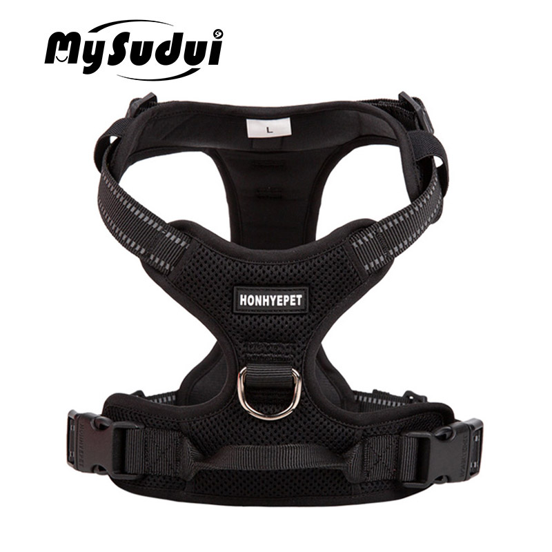 Truelove Pet Dog Harness Large Small For Pitbull Reflective Safety Harness For Dogs Car Harness Dog Sport No Pull Vest Husky(China)