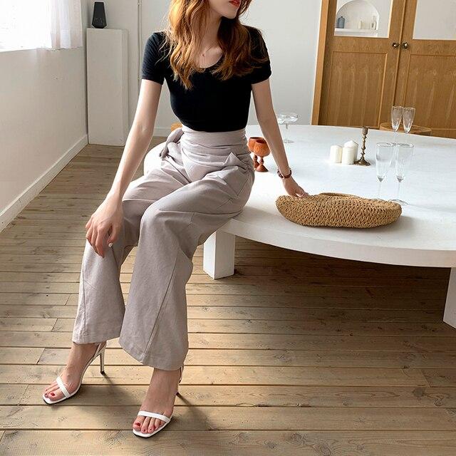 Women's Casual Bell Bottom Pants 4