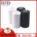 D & D 2 шт 500 м прочные и прочные швейные нитки белый полиэстер нить Одежда Аксессуары для шитья