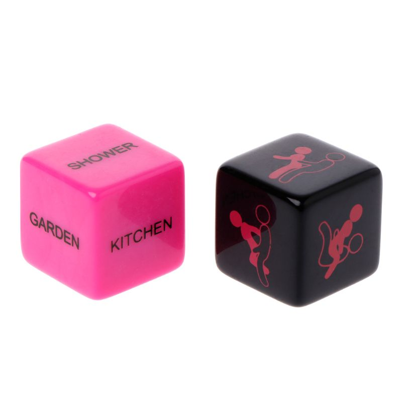 1 Pair Sex Dice Position Fun Adult Erotic Love Sexy Posture Couple Lovers Humour Game Toy Novelty Party Gift Q1FF