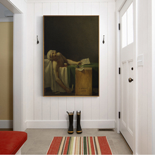 Citon Canvas Oil painting Jacques-Louis David《The Death Of Marat, 1793》Artwork Poster Picture Modern Wall decor Home Decoration vaux david cell death isbn 9780470686577