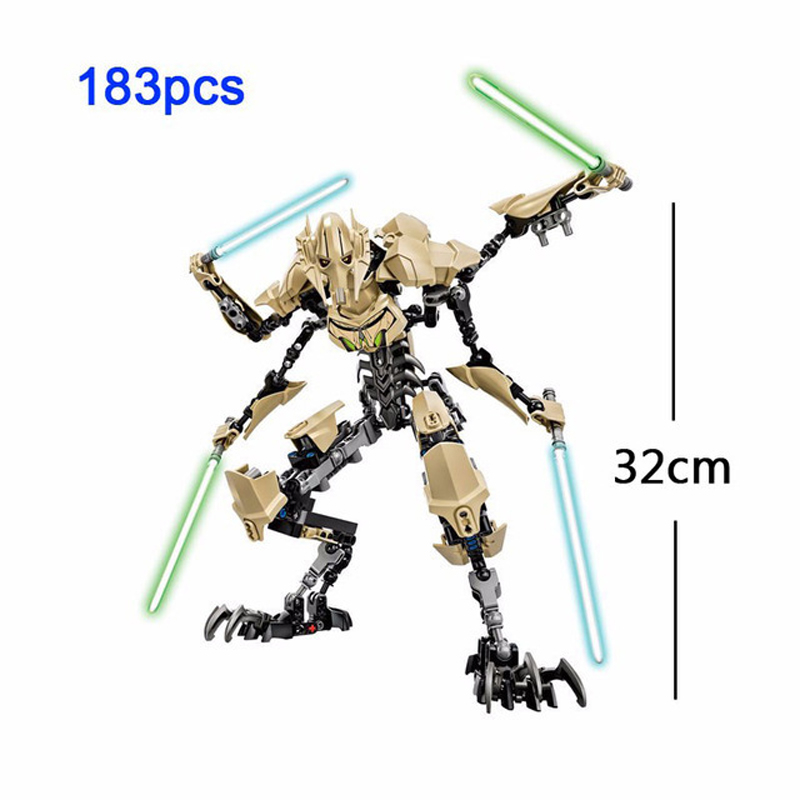 Big Size General Grievous Star Wars Force Awakens Command Cody Obi Wan Kenobi Luke Buildable Action Figure Block Toy