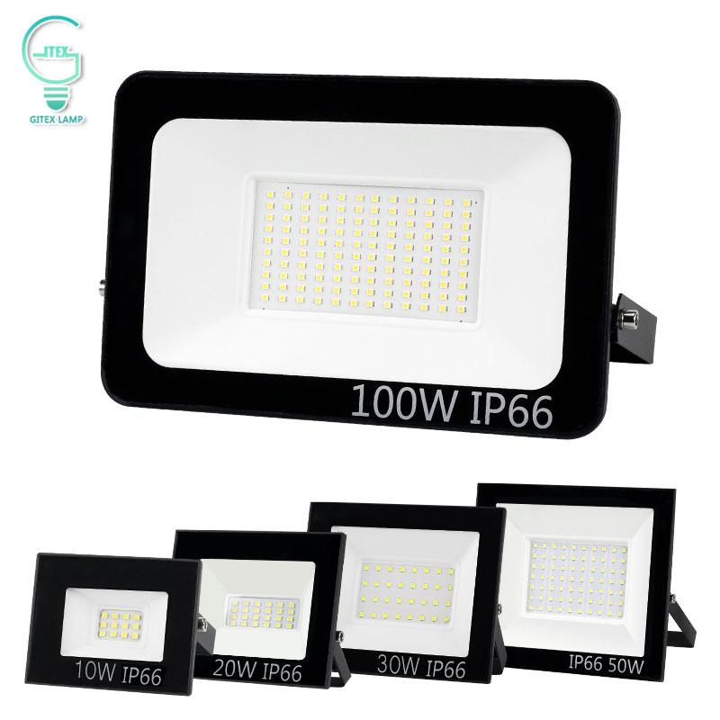 220V 240V LED Flood Light 10W 20W 30W 50W 100W Floodlight Waterproof IP65 Reflector Spotlight Outdoor Professional Lighting