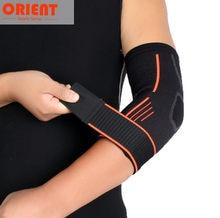 Novo cotovelo ao ar livre suporte cinta almofadas de ajuda à lesão cinta guarda envoltório banda elástica manga de náilon bandagem almofada basquete voleibol