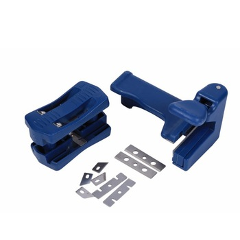 new woodworking tools handle edge trimmer edge end banding machine cutter wood spared blade set for furniture cabinet making 2Pcs/Set Double Edge Laminate Trimmer Woodworking PVC Edge Banding Machine Tool