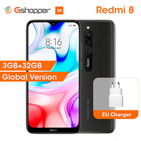 New Global Version Xiaomi Redmi 8 3GB RAM 32GB ROM Mobile Phone Snapdragon 439 Octa Core 12MP Dual Camera 5000mAh Battery