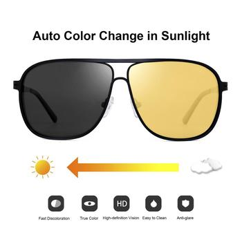 FENCHI Men Night Vision Glasses Polarized Yellow Anti-Glare Lens Sunglasses Driving Night Vision Goggles For Car Vision Nocturna classic vintage photochromic sunglasses men polarized sun glasses driving eyewear male night vision change color lens anti glare