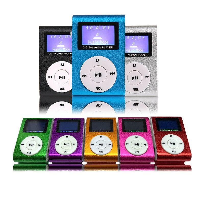 Mp3-плеер с металлическим зажимом, мини USB, ЖК-экран, поддержка 32 ГБ Micro SD TF слот для карты, цифровой MP3 музыкальный плеер
