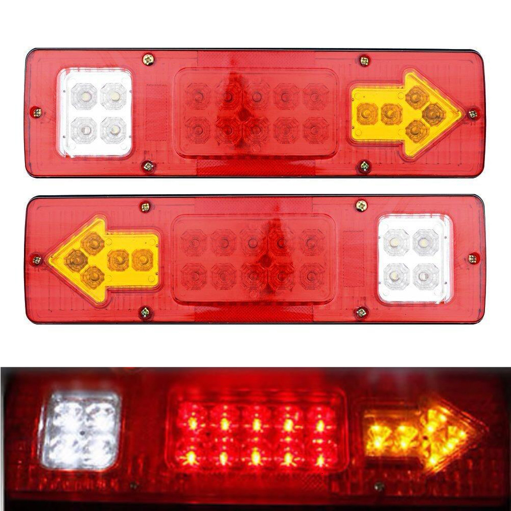 Free Shipping Car Styling 2pcs 19 LED Car Truck Trailer Rear Tail Stop Turn Light Indicator Lamp 12V Drop Shipping