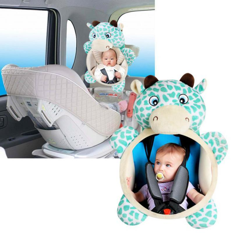 Car Seat Mirror Baby Facing Rear Mirrors Baby Adjustable Safety Seat Rearview Mirror Baby Headrest Mount Car Accessories 7479
