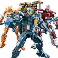 Nuevo juego de robot de bloques de construcción Legoes Serie de películas Mecha Deformation, ladrillos DIY, juguetes educativos para niños, regalos de cumpleaños