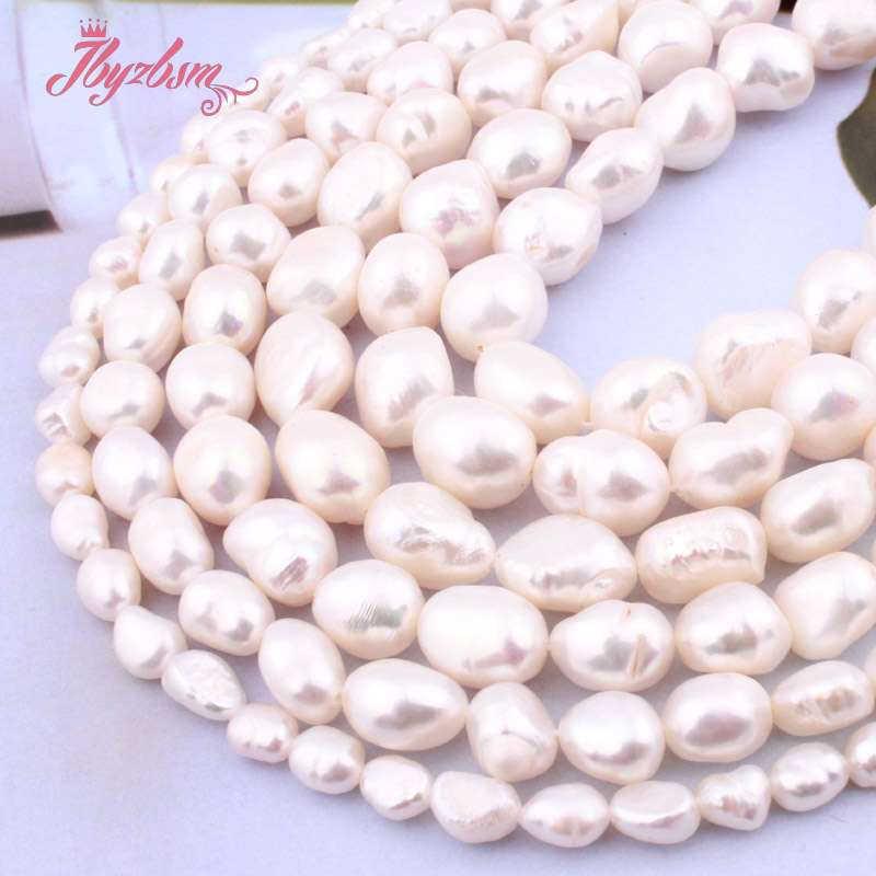 """5-7/8-9/9-10/10-11 Mm Witte Aardappel Zoetwater Parel Losse Natuursteen Kralen Voor Vrouwen diy Sieraden Maken Ketting Armband 15"""""""