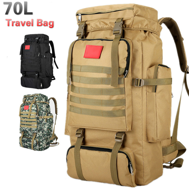 Men Backpack Bags 70 Litres Tactical Back Pack Army Backpacks Multifunctional Outdoor Travel Military Bag Mochila Sac