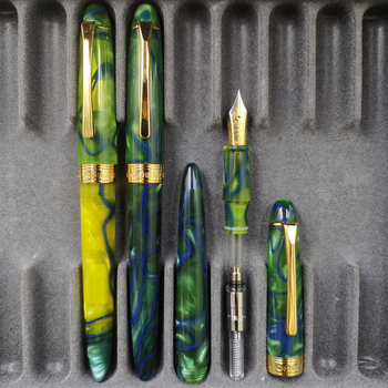 LORELEI Resin Fountain Pen Ink Pen Golden Clip Converter Filler Fine Nib Business Stationery Office School Supplies Writing Gift nice silver clip black yellow green fine nib fountain pen retro business gift office writing ink pens with an original gift box