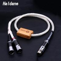 Haldane HIFI Odin Reference interconnects Copper Rhodium Carbon Fiber XLR Balanced Female to Male Audio Audiophile Cable