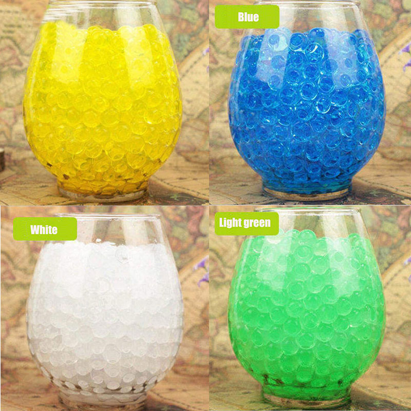 100PCS/Lot Crystal Soil Mud Cute Grow Up Water Beads Hydrogel Magic Gel Jelly Balls Party Gift For Vase Plant Decoration E