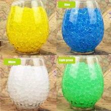 Boue de sol en cristal 100 pièces/lot, perles d'eau, Hydrogel magique, boules de gelée, cadeau de fête pour Vase, décoration de plante E
