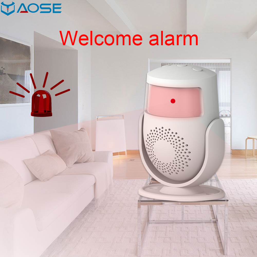 YAOSE Wireless Guest Alarm Welcome PIR Motion Sensor Home Security Burglar Infrared Detector