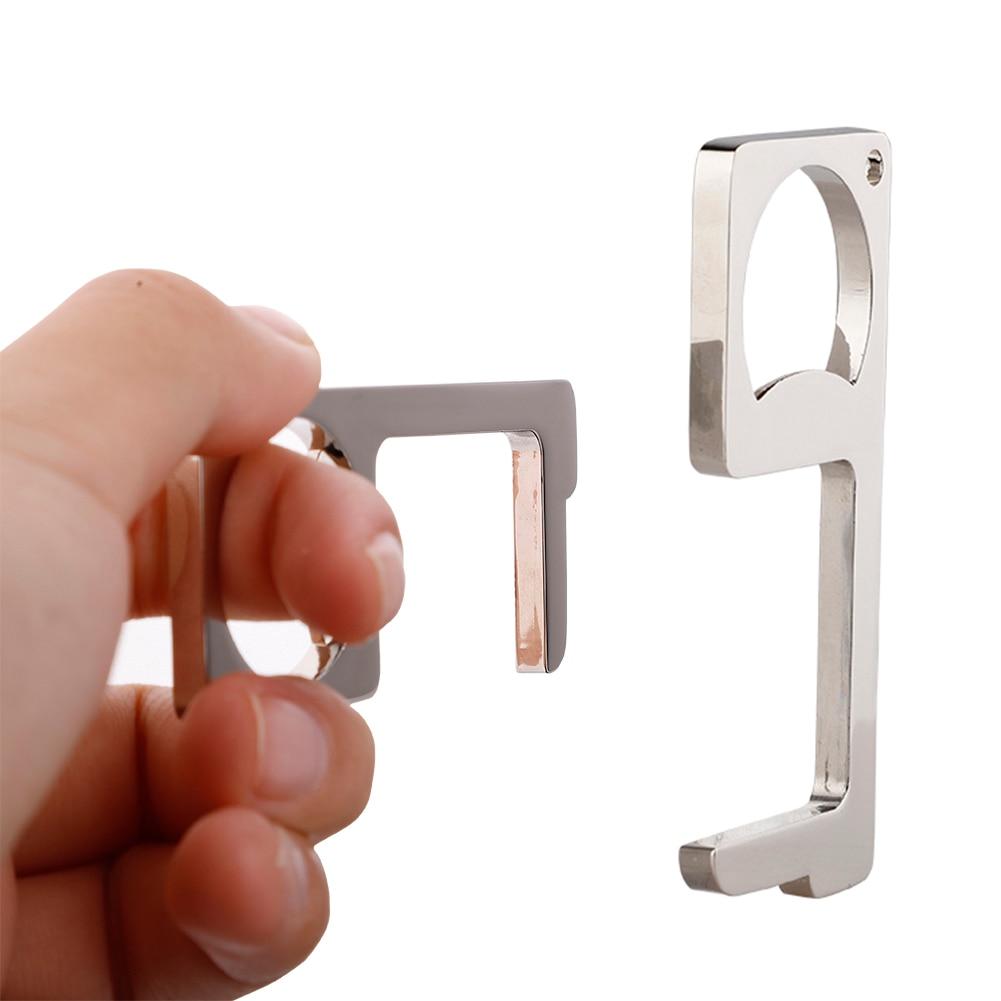 3 Style 2 In 1 Contactless Safety Door Opener Beer Opener Non-Contact Press Elevator Edc Door Handle Key Opener Tool