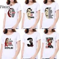 Verano Harajuku Salvador Dalí Casa De Papel La Casa De Papel camiseta mujer camiseta Mujer Camisetas Camiseta moda S M L XL XXL