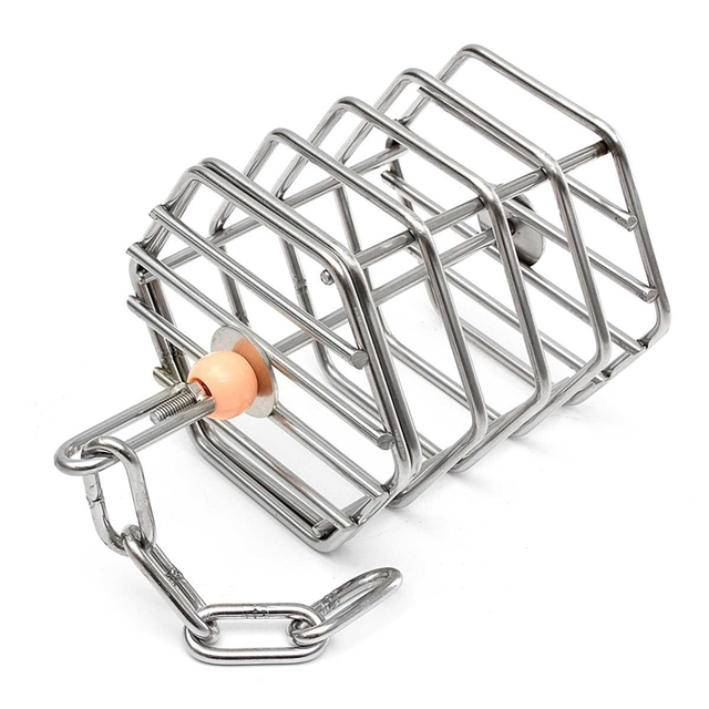 ABUI-Pet Bird Parrot Squirrel Bold Stainless Steel Food Hanging Cage Foraging Toys Macaw Cockatoo Hunt Feeder Entertainment Toys 2