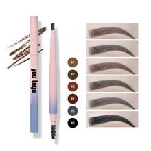 50pcs/lot Wholesale Eyebrow Enhancers Multifunction Makeup Waterproof Eye Brow Pencil Eyebrow Tint Private Label Cosmetics