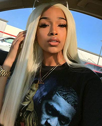 #613 Blonde Silky Straight Human Hair 13×4Lace Front Wigs With Baby Hair Transparent Lace Blonde Straight 13×4 Lace Front Wigs