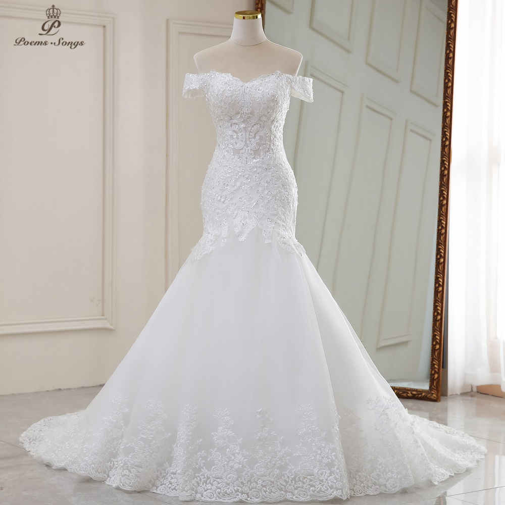 Wedding-Dresses Mermaid Real-Photo Luxury Sexy-Style Video No Robe-De-Mariee Sereia Vestidos-De-Novia