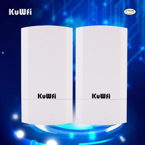 Image 5 - RU Trasporto Libero 2 PCS 2.4Ghz 300Mbps 1KM P2P Nessuna Impostazione Wireless Outdoor CPE Bridge Router Access Point supporto WDS con Display A LED