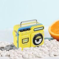 New PURIDEA MOCA Minions Retro Portable Radio Wireless Bluetooth Speaker yellow Metal Audio FM radio Music Player gift