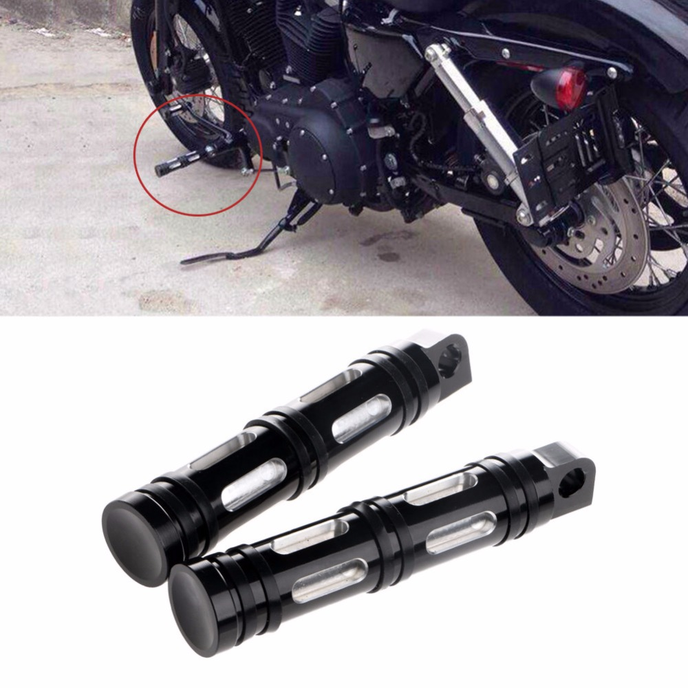 1Pair Aluminum Motorcycles Foot Rests CNC Edge Cut Rear Front Foot Peg For Harley Softail Touring Sportster Dyna Pedals & Pegs