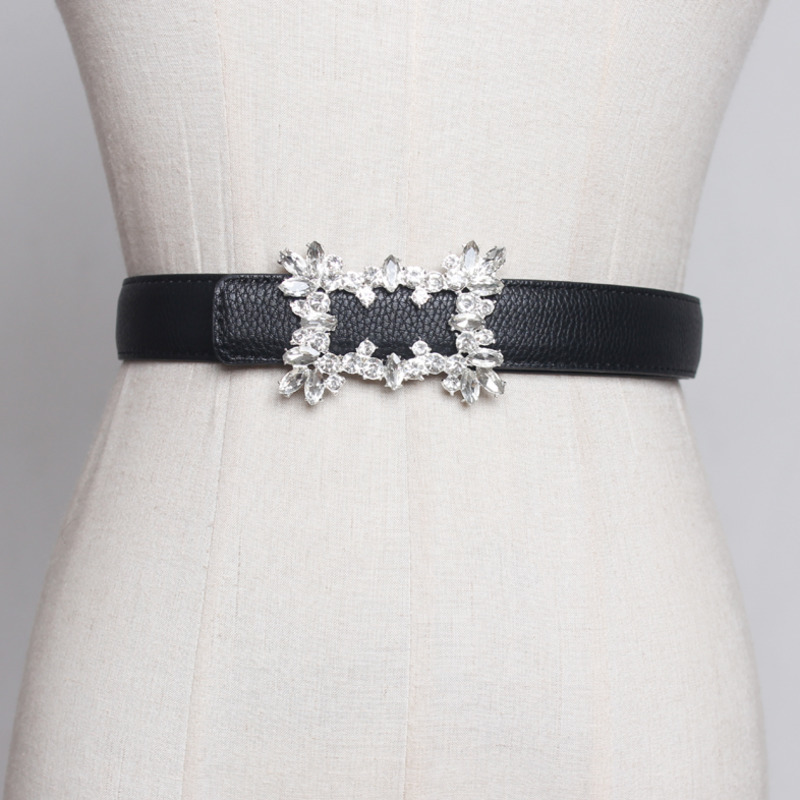 2020 New Design Crystal Setting Corset Belt Trendy Fashion Belts For Women All-match Solid Belt Stylish Waistband Female ZL038
