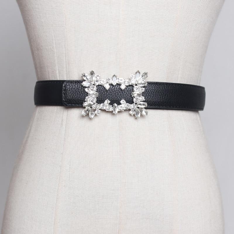 2020 New Design Crystal Setting Corset Belt Trendy Fashion Belts For Women All-match Solid Belt Stylish Waistband Female ZL038